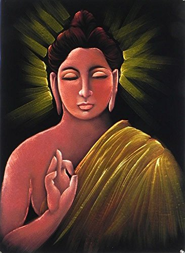 DollsofIndia Lord Buddha - Painting on Velvet Cloth - 27 x 20 inches (DP49) Artwork at amazon