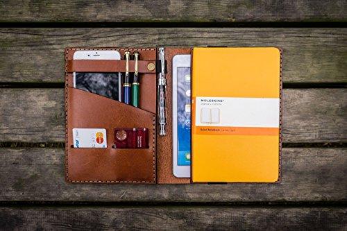 iPad Mini & Large Moleskine Cover - Brown - Leather Travel journal