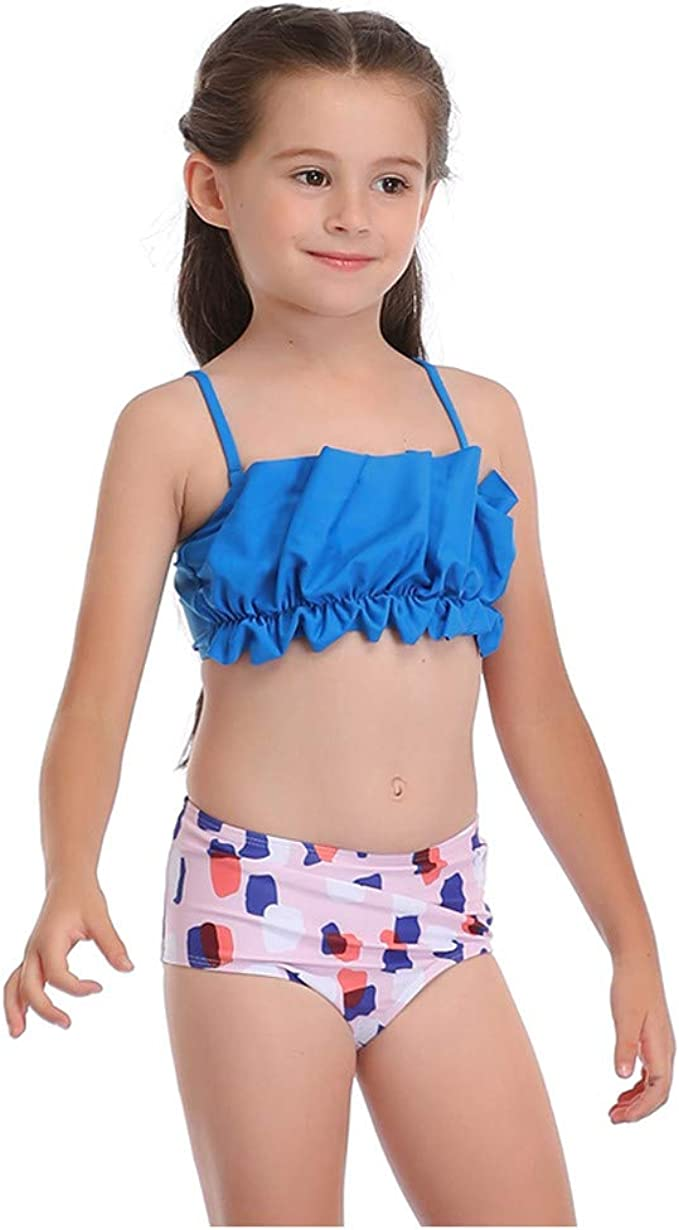 Backless Ruffles Bikini Swimsuit Baby Girls Toddler Summer Swimming Kids Clothes
