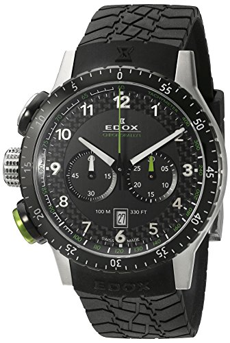 Edox-Mens-10305-3NV-NV-Chronorally-1-Analog-Display-Swiss-Quartz-Black-Watch