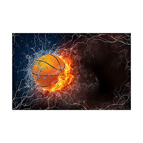 Colorido Flame Guitar Basketball Car DIY Full Diamond Painting Cross Stitch Wall Decor size 40cm x 30cm (E054) ()