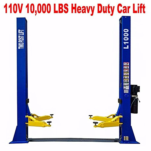 L1000 10,000 LB 2 Post Lift Car Auto Truck Hoist 110V w/ 12 Month Warranty