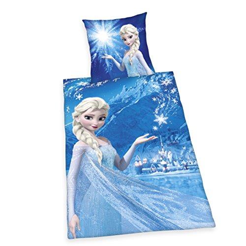 Herding 4479253077 Disney's Die Eiskönigin Bettwäsche, Baumwolle, blau, 140 x 200 x cm