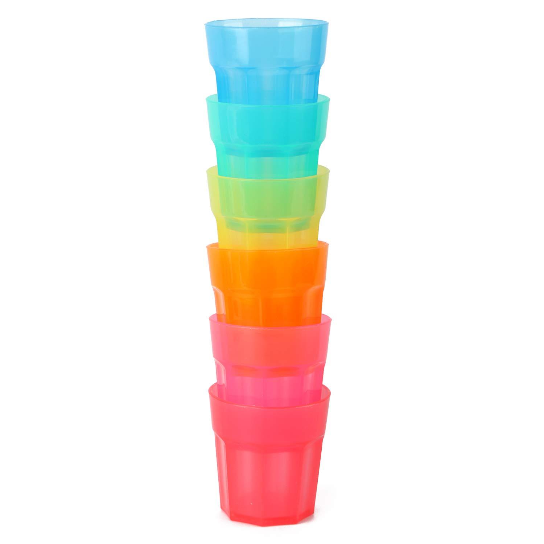 COM-FOUR/® 12x Gafas de tiro resistentes hechas de pl/ástico ideal para cumplea/ños y fiestas 12 piezas - vasos de chupito Gafas de tiro reutilizables en colores brillantes