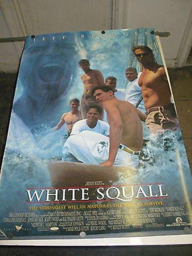 WHITE SQUALL / ORIG. U.S. MOVIE ONE SHEET POSTER (JEFF BRIDGES & RIDLEY SCOTT)