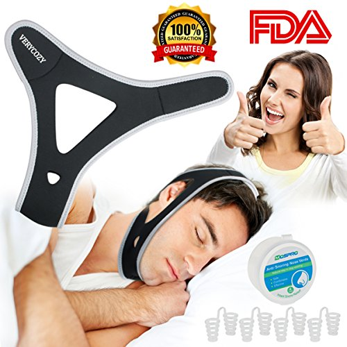 Snoring Solution Stop Snoring Chin Strap, 4 Set Nasal Dilators Anti Snoring Nose Vent Snore Reduction Snore Relief Chin Strap Mouth Breathers Sleep Aid Devices