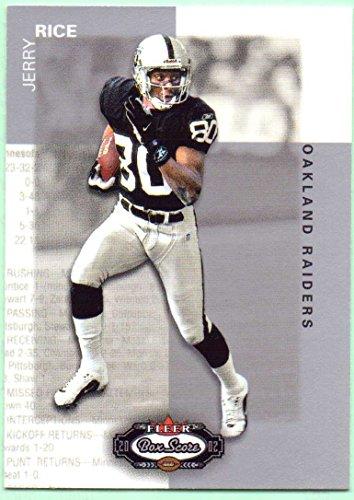 2002 Fleer Box (Jerry Rice 2002 Fleer Box Score #11 - Oakland Raiders)