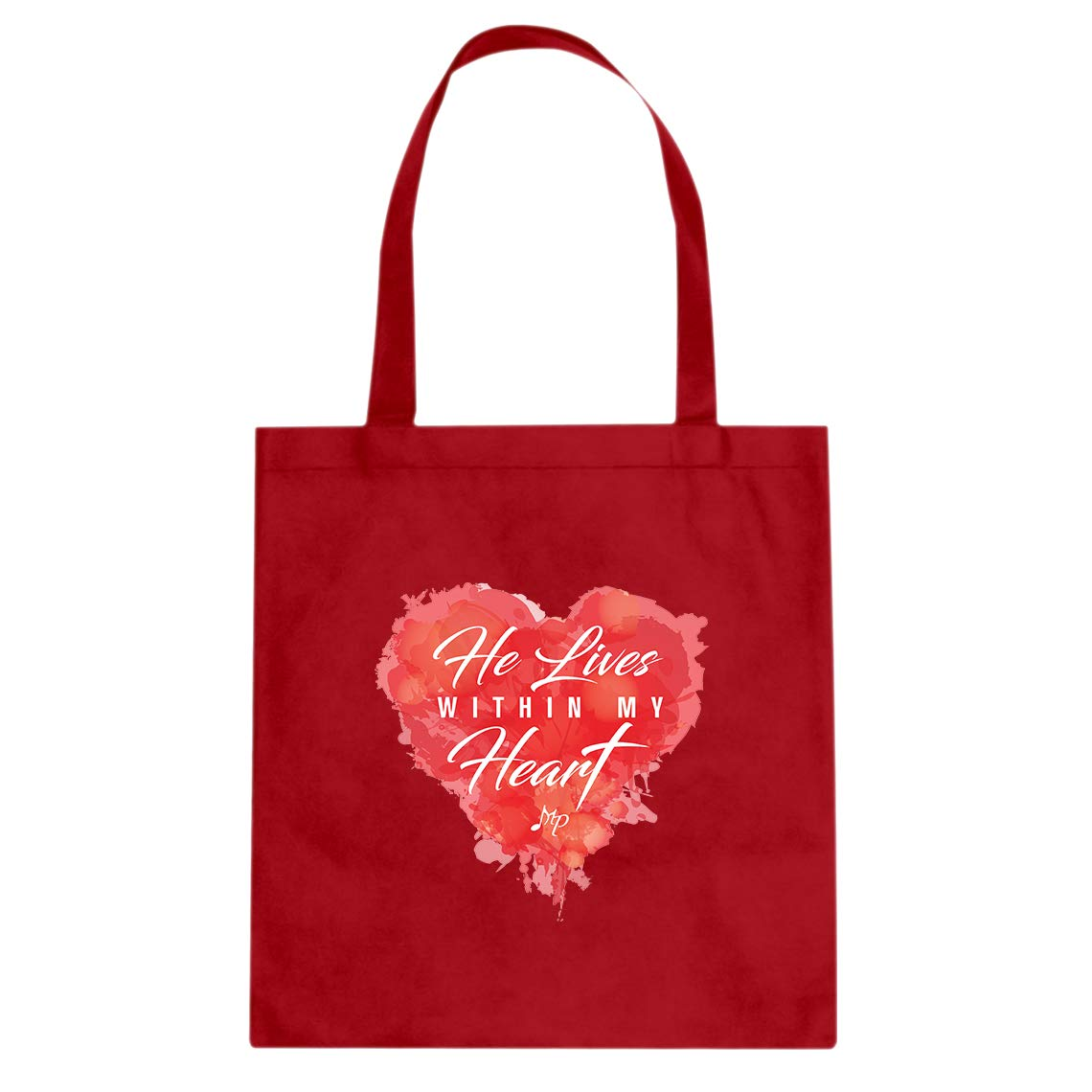 My-Merch He Lives Within My Heart Color Cotton Canvas Tote Bag