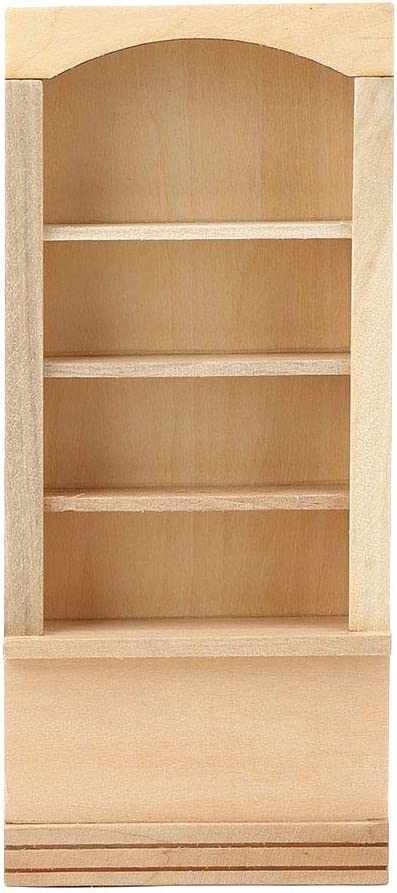 Yinuoday Dollhouse Accessories, 1:12 Scale Miniatures Dollhouse Furniture for DIY Dollhouse Living Room Mini Toy Wood Bookcase for Bedroom