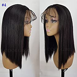 Coolgirl #4 Short Bob Hair Synthetic Lace Front Wigs Heat Resistant Synthetic Wigs with Baby Hair for Women