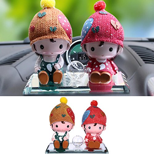 2 Pcs/set Car Perfume Seat Cartoon Dolls Cute Star Hat Couple Toy Ornaments by LianLe (Cartoon Star Dolls)
