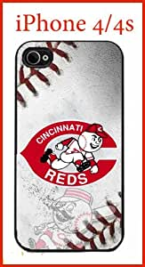 MLB Cincinnati Reds Case for iPhone 4 4s Case Hard Silicone Case