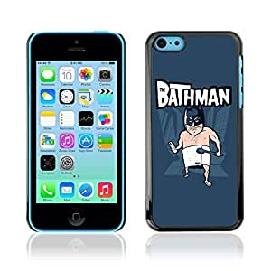 Colorful Printed Hard Protective Back Case Cover Shell Skin for Apple iPhone 5C ( Funny Bat Bathman Illustration )