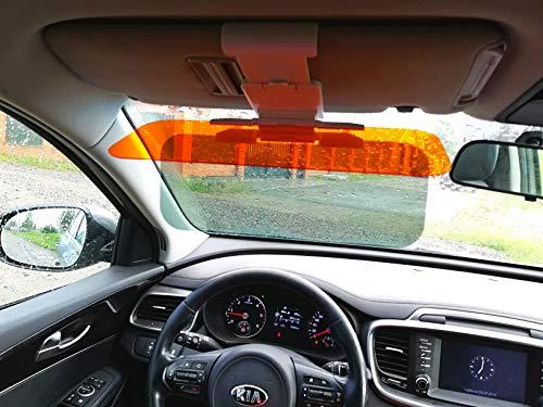 (Car Sun Visor Extender Sun Blocker HD 2 in 1 Day and Night Vision Anti-Glare Driving Visor Anti Glare Windshield Visor Blocker Anti-Dazzle Car Visor Universal 12,7x4,7 inch Size Fits Cars Trucks SUVs)