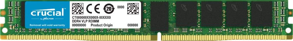 Crucial 16GB 2666 MHz DDR4 PC4-21300 VLP ECC UDIMM RAM