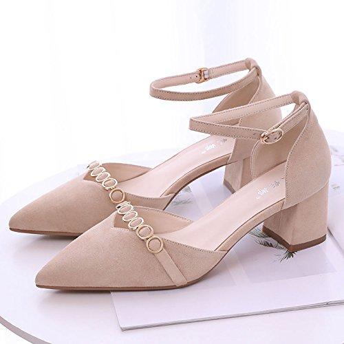 VIVIOO Sandalias De Mujer Sandalias De Tacón Alto Sandalias De Tacón Alto Con Tacón Alto Sandalias De Tacón Bajo Zapatos De Hebilla Salvaje Tacones Altos Rosa Raw Color