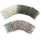 #8: 50 Sheets 3D Flower Nail Art Stickers Decals Decal Manicure Stamping DIY Decoration Tools, Include 15 Sheets White Flower, 15 Sheets Black Flower And 20 Sheets Colorful Flower
