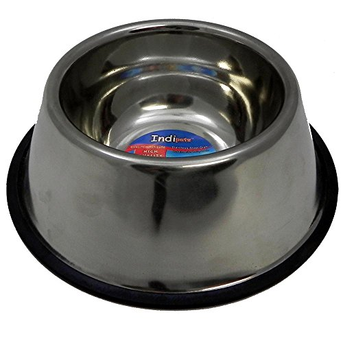 Indipets Stainless Steel No Tip Dish 32oz For Long Eared Dogs