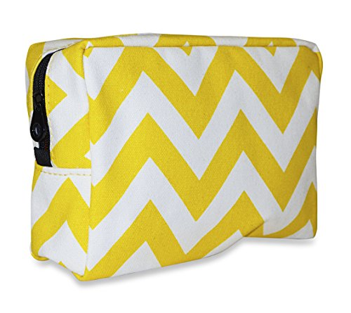ever-moda-designer-print-cosmetic-toiletry-bag-collection-chevron-yellow