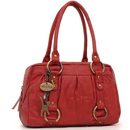 Leather Catwalk Handbag Red Collection Megan 5q8ZwXS