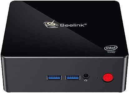 Beelink Gemini X45 Win 10 Mini PC Computer 8GB RAM 256GB SSD Intel Gemini Lake Celeron J4105 2.4G/5G WiFi 1000Mbps Bluetooth4.0 Black