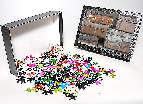 Photo Jigsaw Puzzle of Old luggage on station platform at Bodmin Town station, Bodmin and Wenford