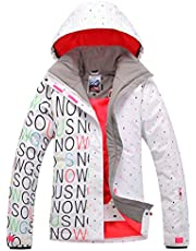 APTRO Women's ski Snowboard Jacket Waterproof Warm Winter Lined Jacket