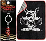 AYB Game Plush Throw Blanket Foxy Pirate design + Figural Keychain Five Nights at Freddy's Bundle