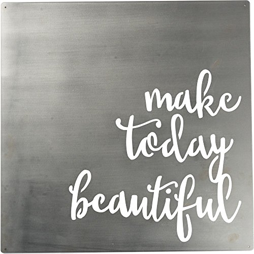 Primitives by Kathy Precision Cut Metal Word Art Sign, Make Today Beautiful (Best Word For Beautiful)