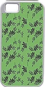 Blueberry Design iPhone 5 5S Case Cover Green Background Black Floral Illustration