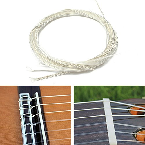 6 Pcs/set Guitar Strings Nylon Plating Set Super Light 1M Guitarra Replacements Classic Acoustic Guitar Parts Accessories MITIN