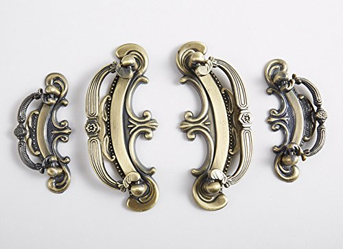 Globalwells Luxury Retro ring style Cabinet Drawer Wardrobe Pull Handle Hardware 2-1/2'' (64mm) Hole Centers-5 Pack by G-Hardware (Image #3)