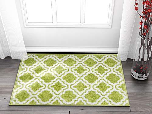 Well Woven Small Rug Mat Doormat Modern Kids Room Rug Calipso Green 1'8