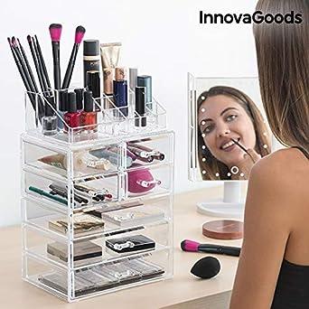 e3686be00 InnovaGoods Organizador de Maquillaje Acrílico - 1 Unidad: Amazon.es