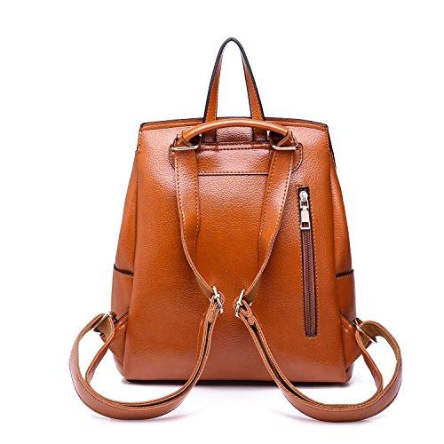Múltiples Del Zhanying color Señoras Size Brown Bolso Mochila Las De Brown Mujeres M Moda Funciones Diseño Viaje q1vg1IxHrw