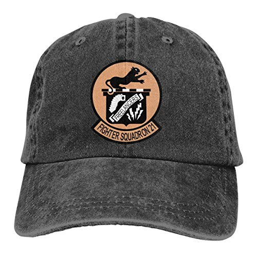 Jearvy US Navy Fighter Squadron 21 Adjustable Dad Hats Baseball Caps Trucker Hats