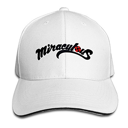 Price comparison product image AegeanSea Miraculous Ladybug And Cat Noir Logo Leisure Baseball Cap White