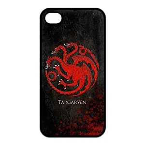Personalized Design Game of Thrones Silver Wolf Stark Clan Silicon iPhone 4/4S Case, Wholesale Hot Selling Game of Thrones iPhone 4/4S Case