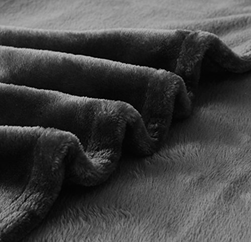 "Exclusivo Mezcla Large Flannel Fleece Velvet Plush Throw Blanket – 50"" x 70"" (Grey) - 280GSM FLANNEL FLEECE- The flannel fabric we choose is originally made from 100% microfiber polyester and brushed to create extra softness on both sides,the throw is designed to be simple but elegant EXTRA LARGE- This throw can be a very useful item to have on hand. Compare with standard size ones, this throw blanket measured by 50"" x 70"" suits better for adults. Enough weight to keep you comfortable, yet light enough to keep you from breaking out in sweat. VERSATILE- Made of premium flannel, this plush throw is super soft, durable, warm and lightweight. It's wrinkle and fade resistant, doesn't shed, and is suitable for all seasons. - blankets-throws, bedroom-sheets-comforters, bedroom - 510Bp83vLKL -"