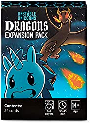Unstable Unicorns Dragons Expansion Pack - designed to be added to your Unstable Unicorns Card Game