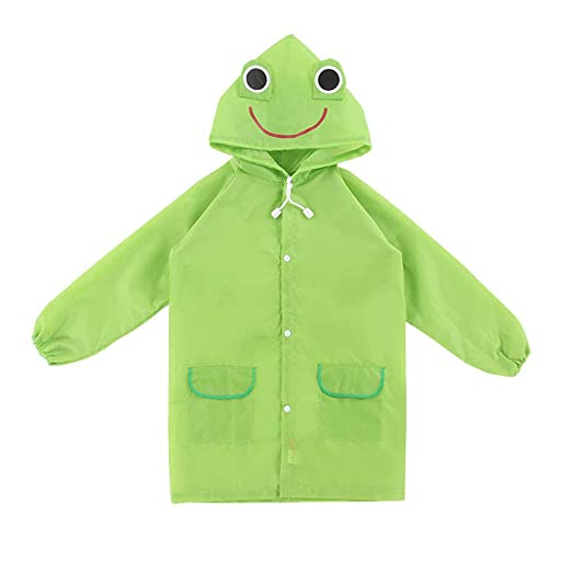 1d2bff39 StyleZ Children Raincoat Cartoon Cute Green Froggy Waterproof Hooded Kids  Rain Jacket Poncho for Boys and