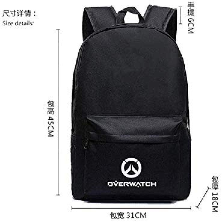 Bkckzzz Men Male Canvas Backpack for Overwatch School Bag Travelling Bag Function Big Capacity Laptop Backpack @1 5