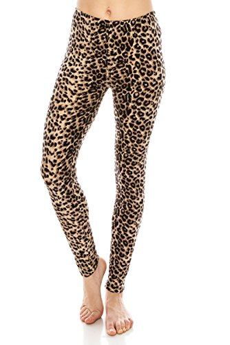 ALWAYS Women Printed Soft Leggings - Buttery Stretch Animal Regular -