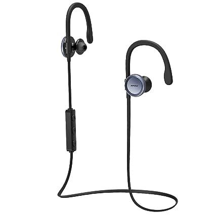 Mpow V4.1 Bluetooth Headphones Wireless Sport Earbuds w/ Adjustable Earhook, Sweatproof,