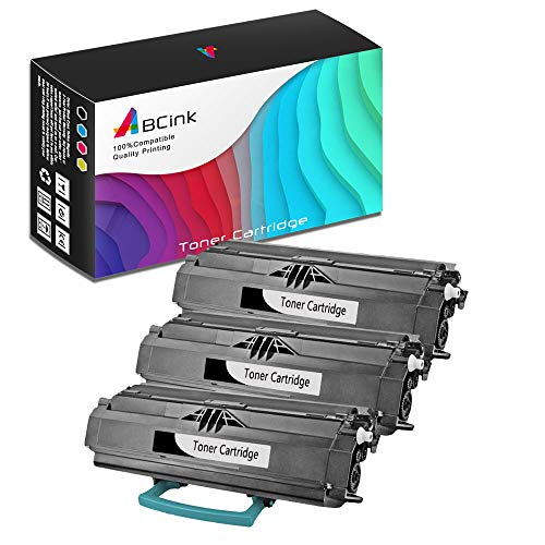 - ABCink Compatible Toner Cartridge Replacements for Lexmark 23800SW 23820SW,for use in Lexmark E238,6000 Yields(3 Pack,Black)