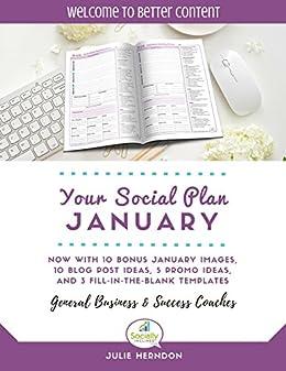 Amazon social media marketing planner your social plan social media marketing planner your social plan january 2018 social media planner maxwellsz