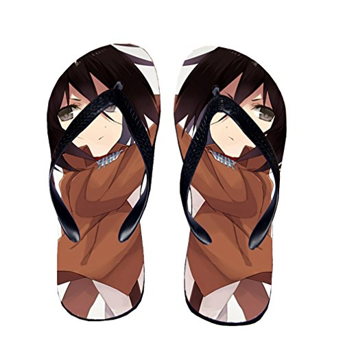 Bromeo Attack on Titan Anime Unisex Flip Flops Chanclas 188