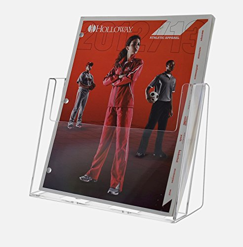 Marketing Holders Brochure or Literature Holder Clear Acrylic Design Holds 8.5x11 Full Page Literature - Sold in Lots of 25 by Marketing Holders