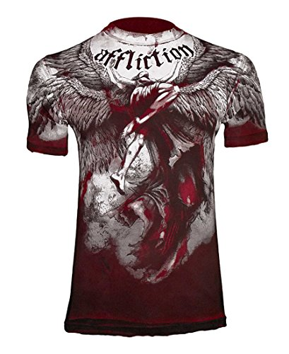 Affliction Men's Upward Tee Shirt X-Large Red
