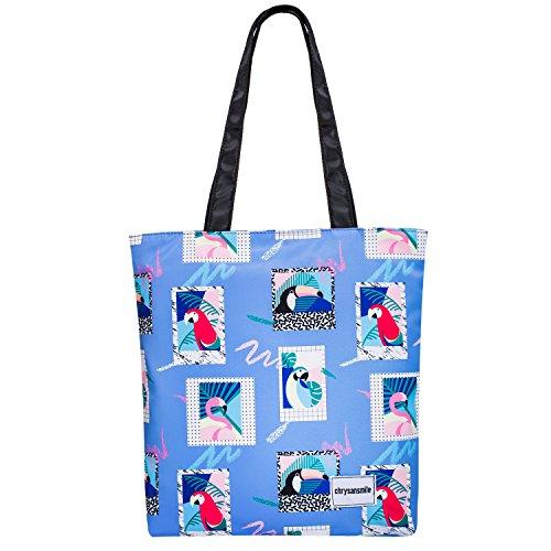 Floral Tote Bag Shoulder Bags For Women Nylon